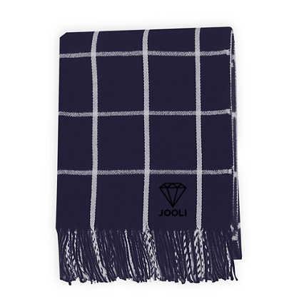 Add Your Logo: Fringed Throw Blanket