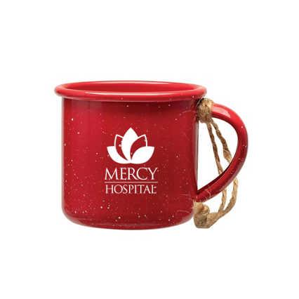 Add Your Logo: Mini Campfire Mug Ornament