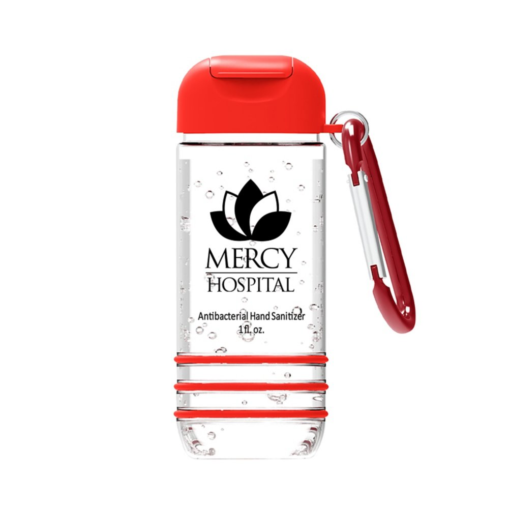 View larger image of Add Your Logo: Hand Sanitizer with Carabiner