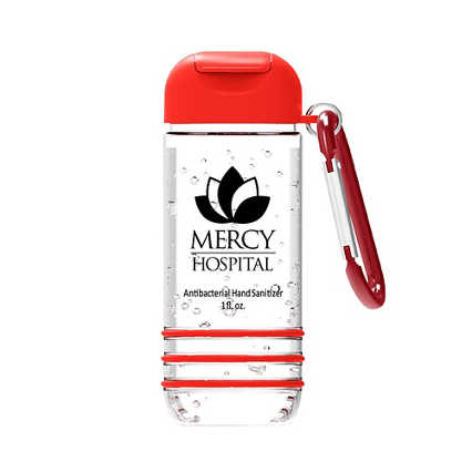 Add Your Logo: Hand Sanitizer with Carabiner