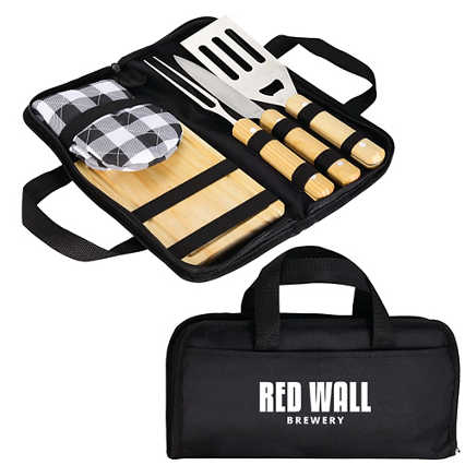 Add Your Logo: Flippin' Awesome Grill Set