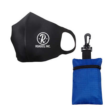 Add Your Logo: Comfort Mask With Travel Pouch