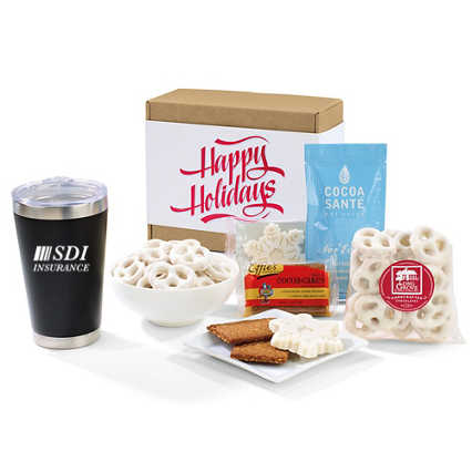 Add Your Logo: Gourmet Holiday Gift Set