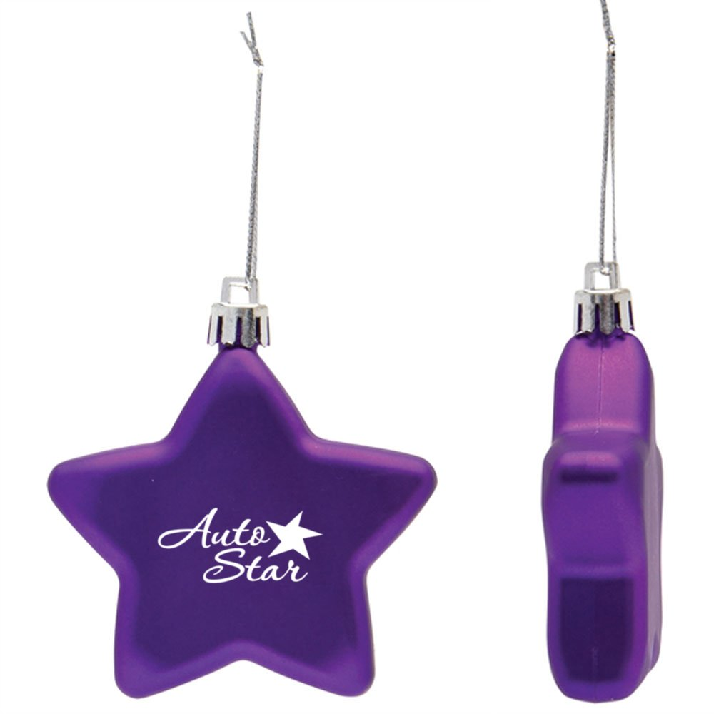 View larger image of Add Your Logo: Shatterproof Classic Star Ornament