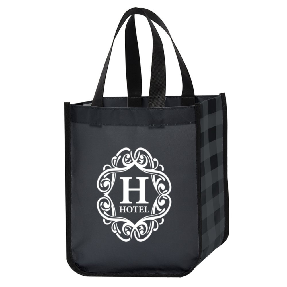 View larger image of Add Your Logo: Perfectly Plaid Tote Bag