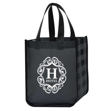Add Your Logo: Perfectly Plaid Tote Bag