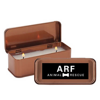 Add Your Logo: Copper Candle
