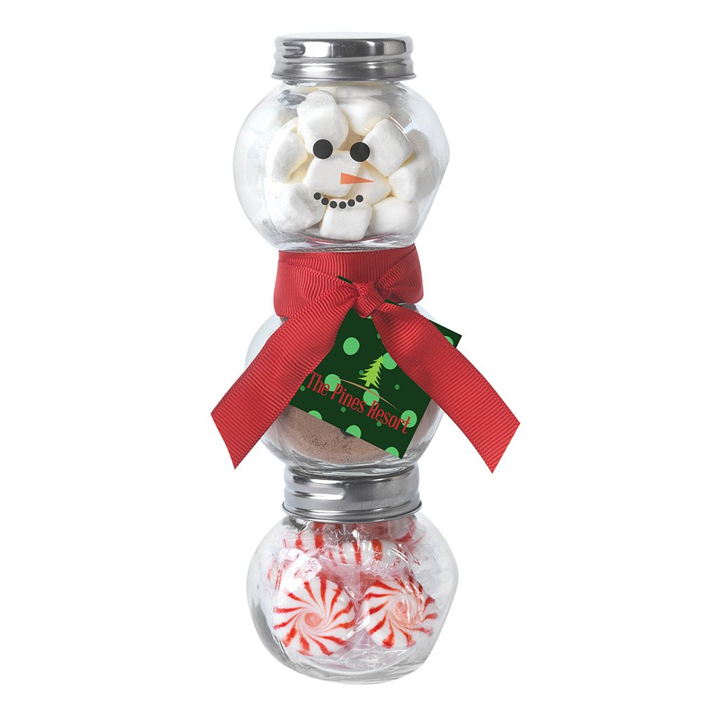 View larger image of Add Your Logo: Snowman Gift in a Jar