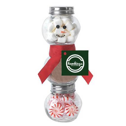 Add Your Logo: Snowman Gift in a Jar