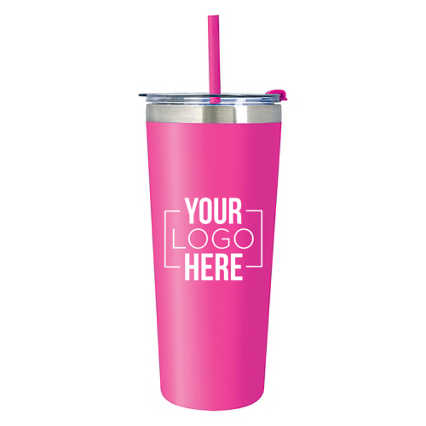 Add Your Logo: 22oz Colorwave Tumbler with Straw