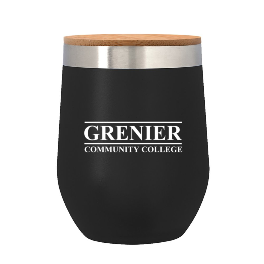 View larger image of Add Your Logo:12 oz. Wine Stainless Tumbler with Bamboo Lid