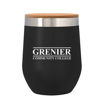 Add Your Logo:12 oz. Wine Stainless Tumbler with Bamboo Lid