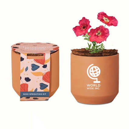 Add Your Logo: Modern Sprout® Tiny Terracotta Grow Kit