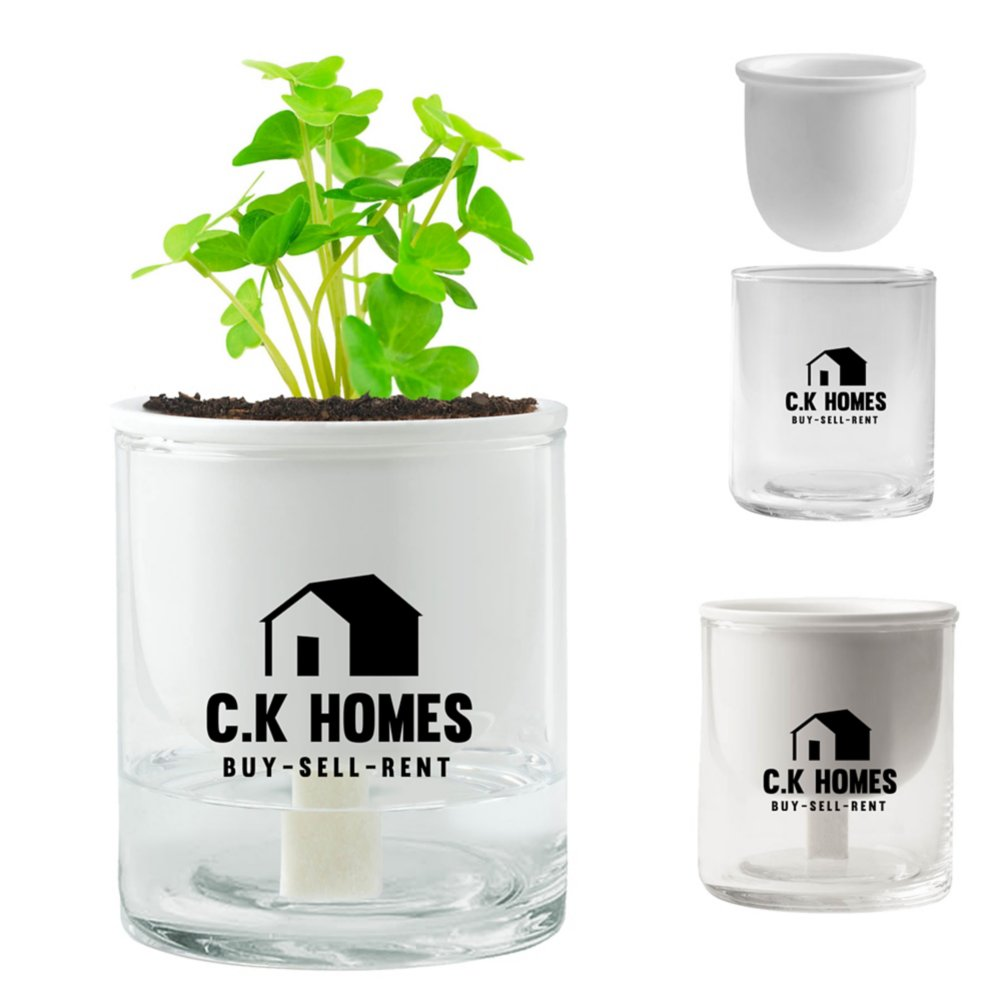 View larger image of Add Your Logo: Self-Watering Planter
