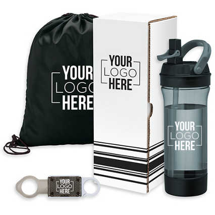 Add Your Logo: 3- Piece Fitness Gift Set