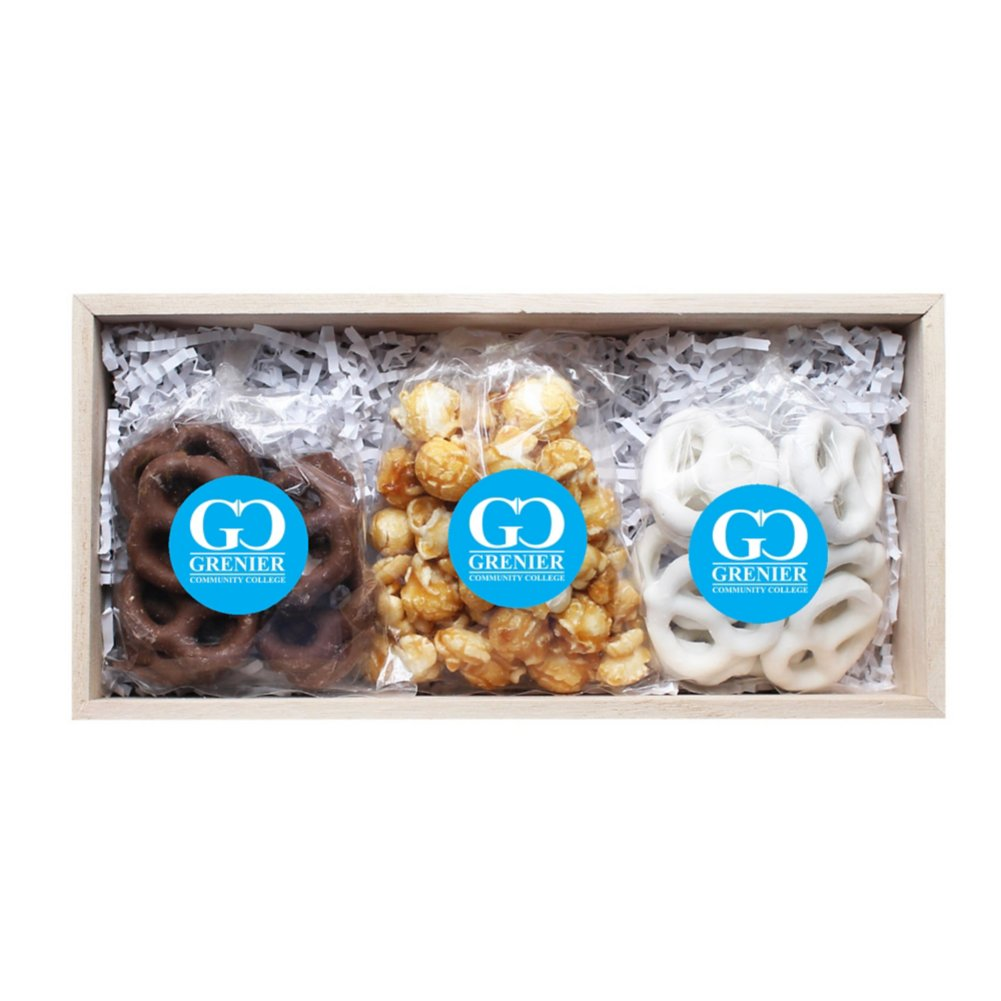 View larger image of Add Your Logo: Caramel Corn and Pretzel Set