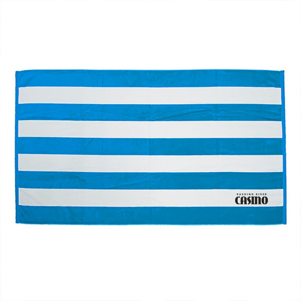 View larger image of Add Your Logo: Cabana Stripe Beach  Towel