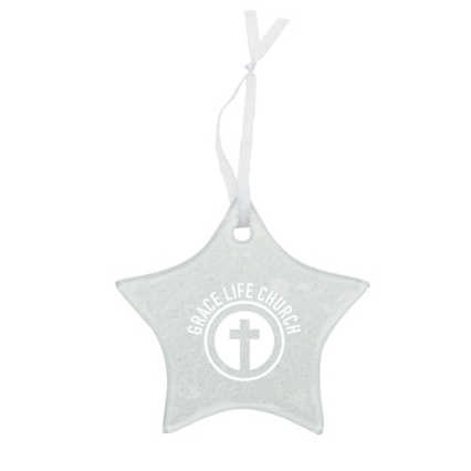 Add Your Logo: Hammered Glass Ornament