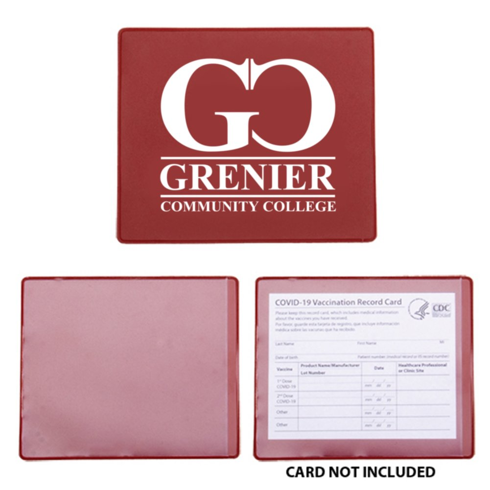 View larger image of Add Your Logo:  Vaccination Card Holder