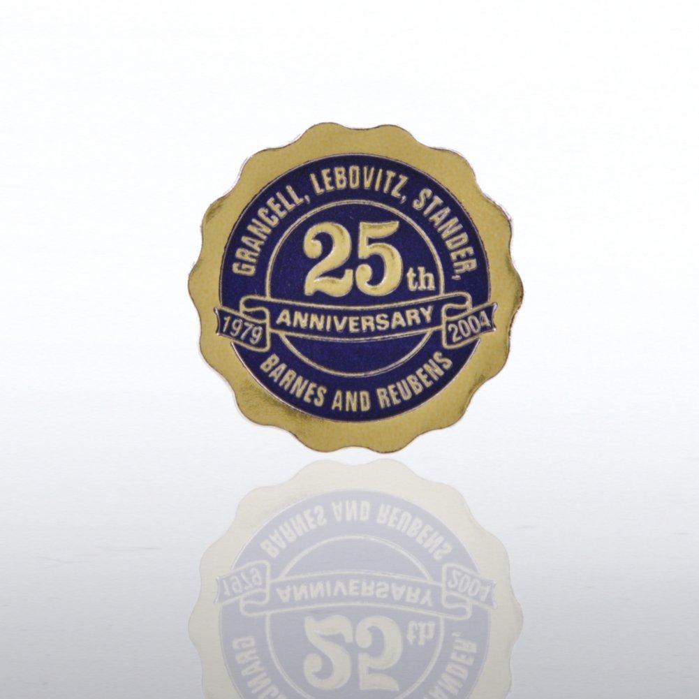 Custom Anniversary Seal - Scallop