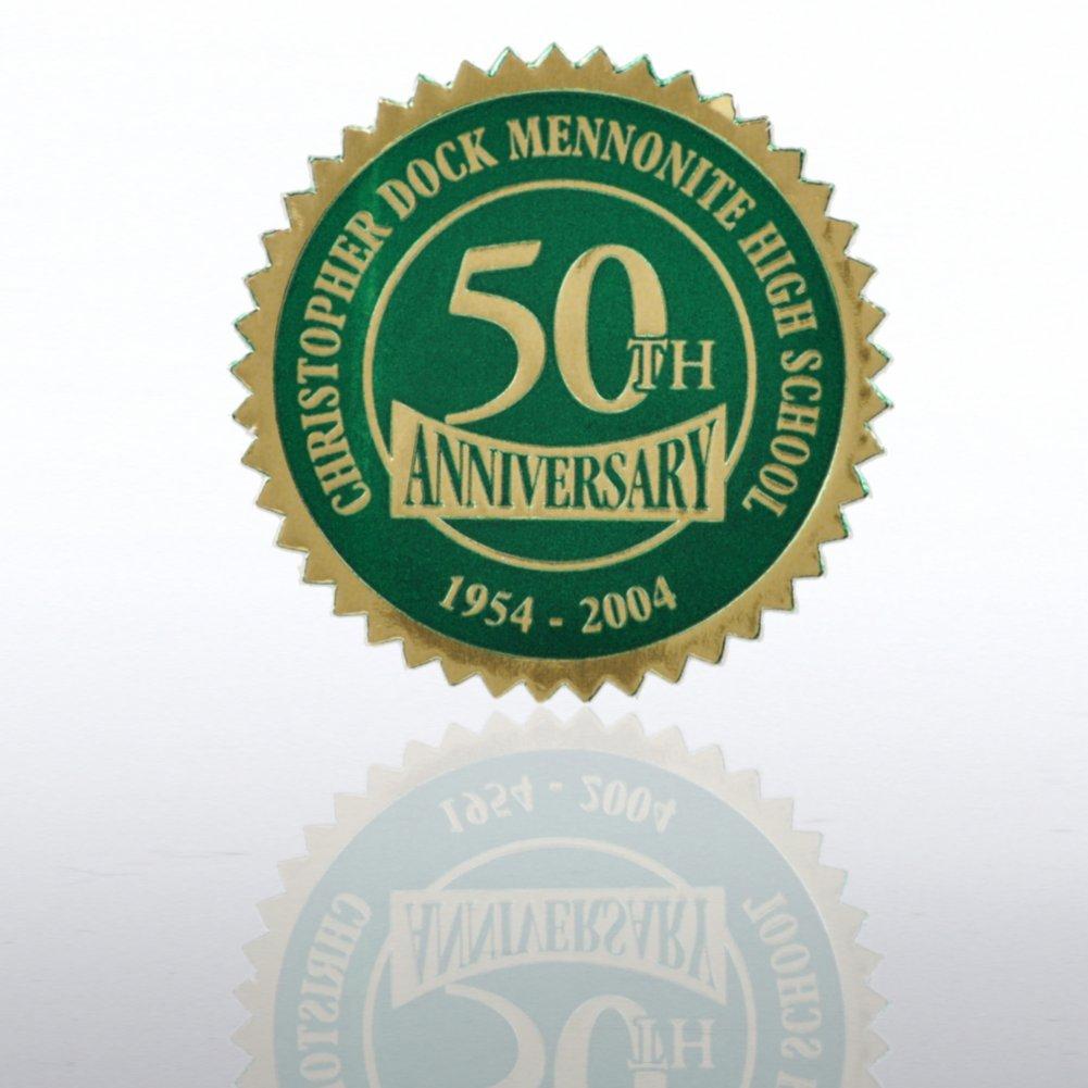 Custom Anniversary Seal - Serrated