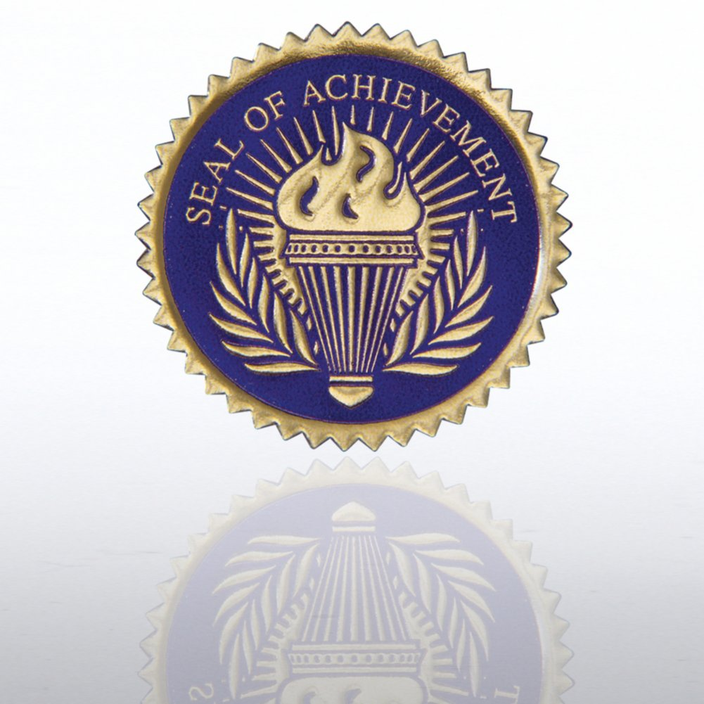 Certificate Seal - Seal of Achievement Torch - Blue/Gold