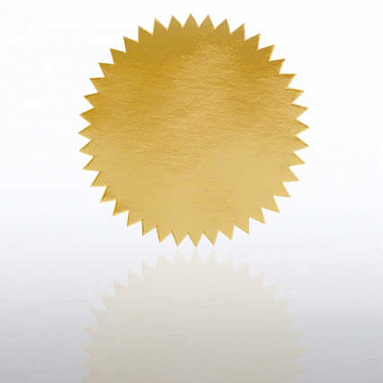Blank Certificate Seal - Gold