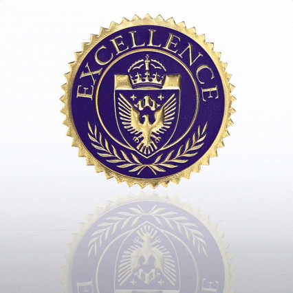 Certificate Seal - Excellence Shield - Blue/Gold