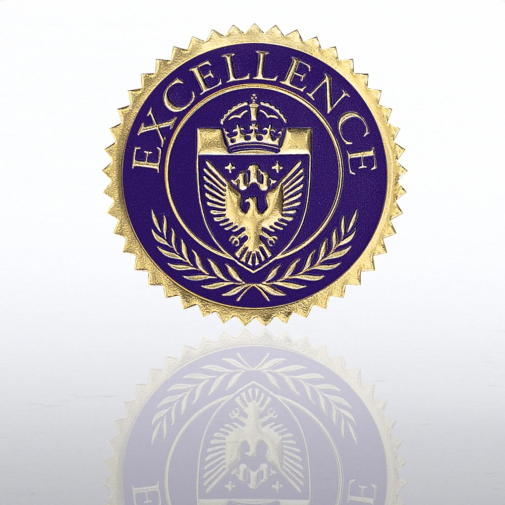 View larger image of Certificate Seal - Excellence Shield - Blue/Gold