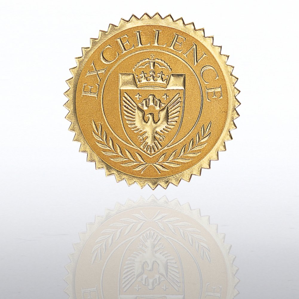 View larger image of Certificate Seal - Excellence Shield - Gold