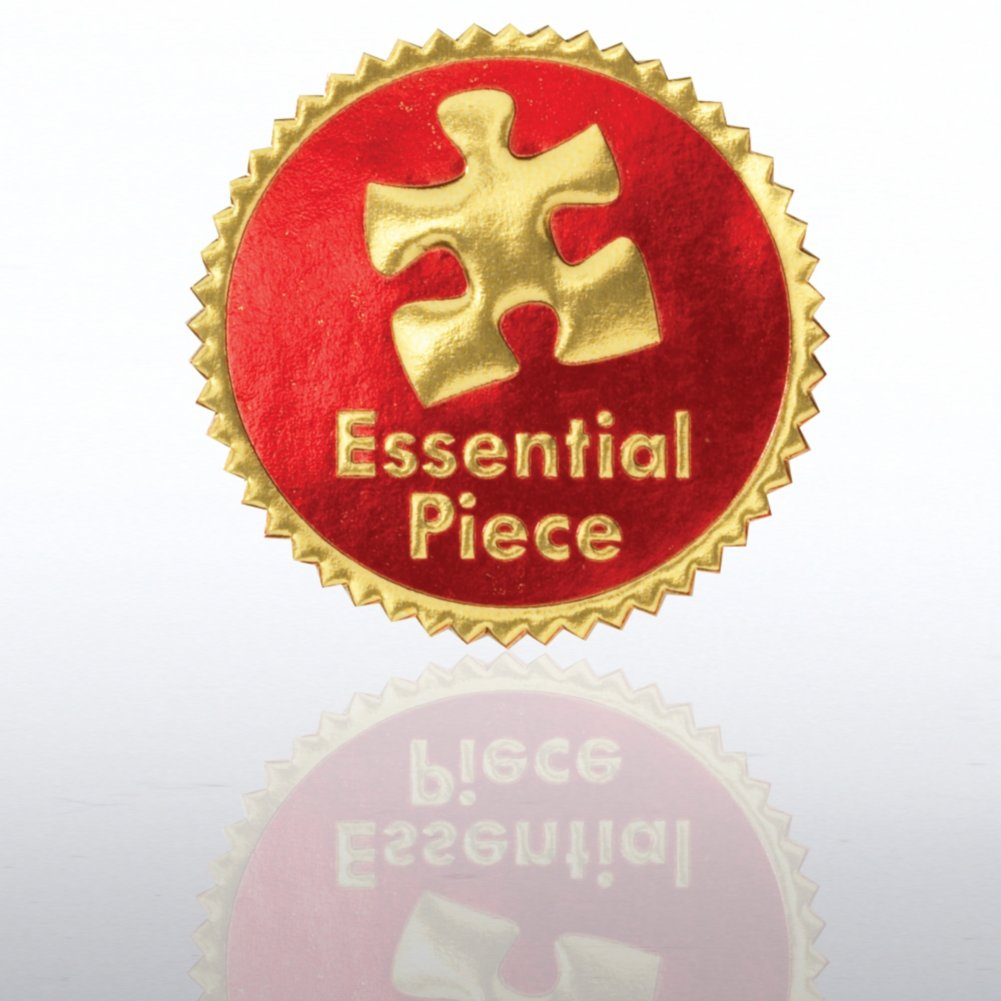 View larger image of Certificate Seal - Essential Piece - Red/Gold