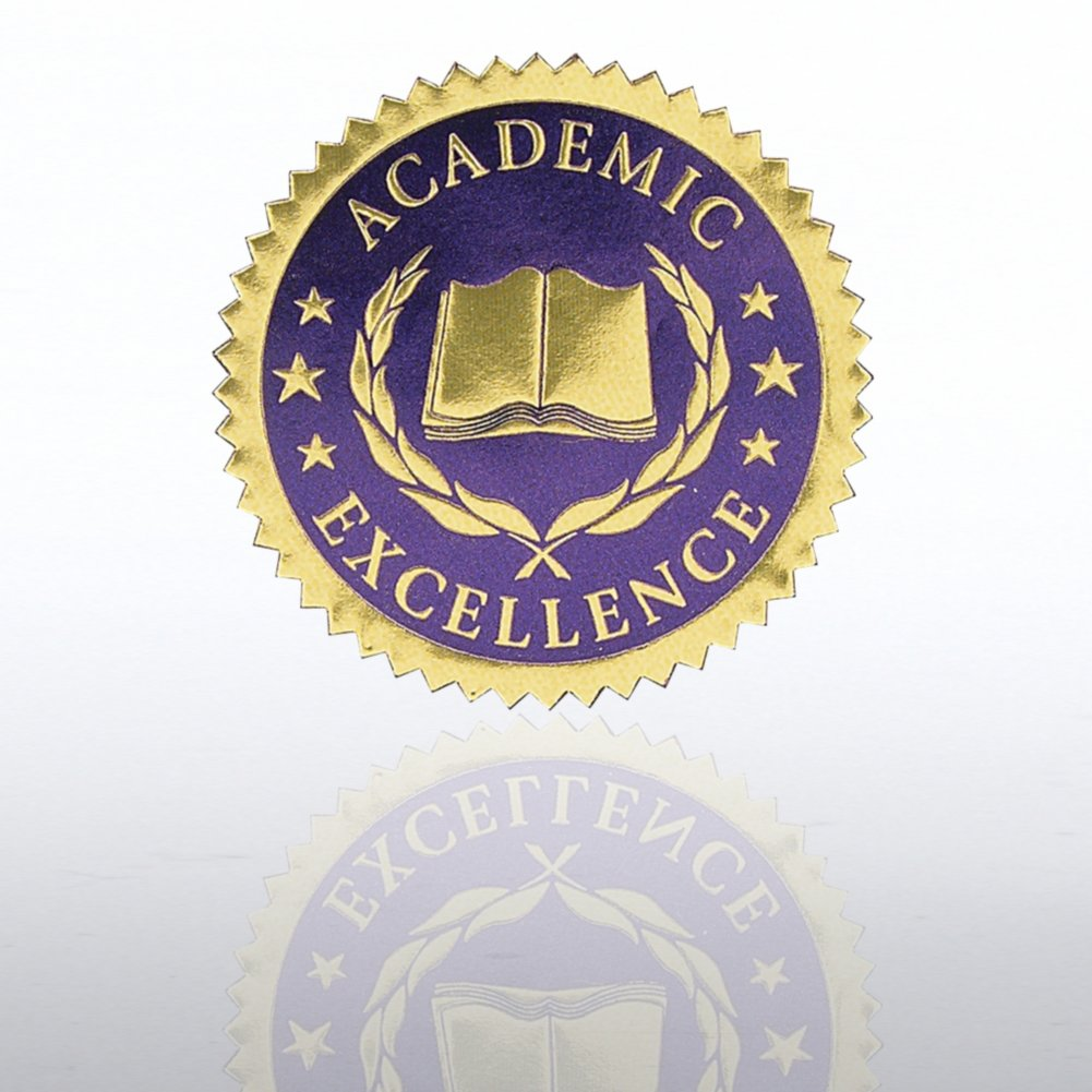 View larger image of Certificate Seal - Academic Excellence - Blue/Gold