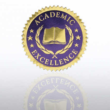 Certificate Seal - Academic Excellence - Blue/Gold