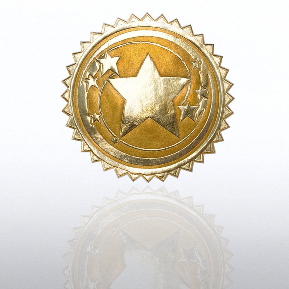 View larger image of Certificate Seal - Star Swirl