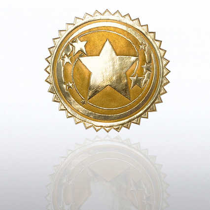 Certificate Seal - Star Swirl