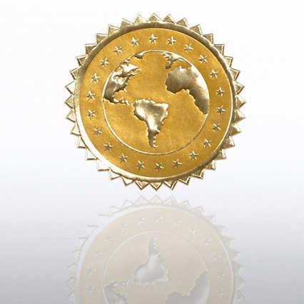Certificate Seal - Globe Stars