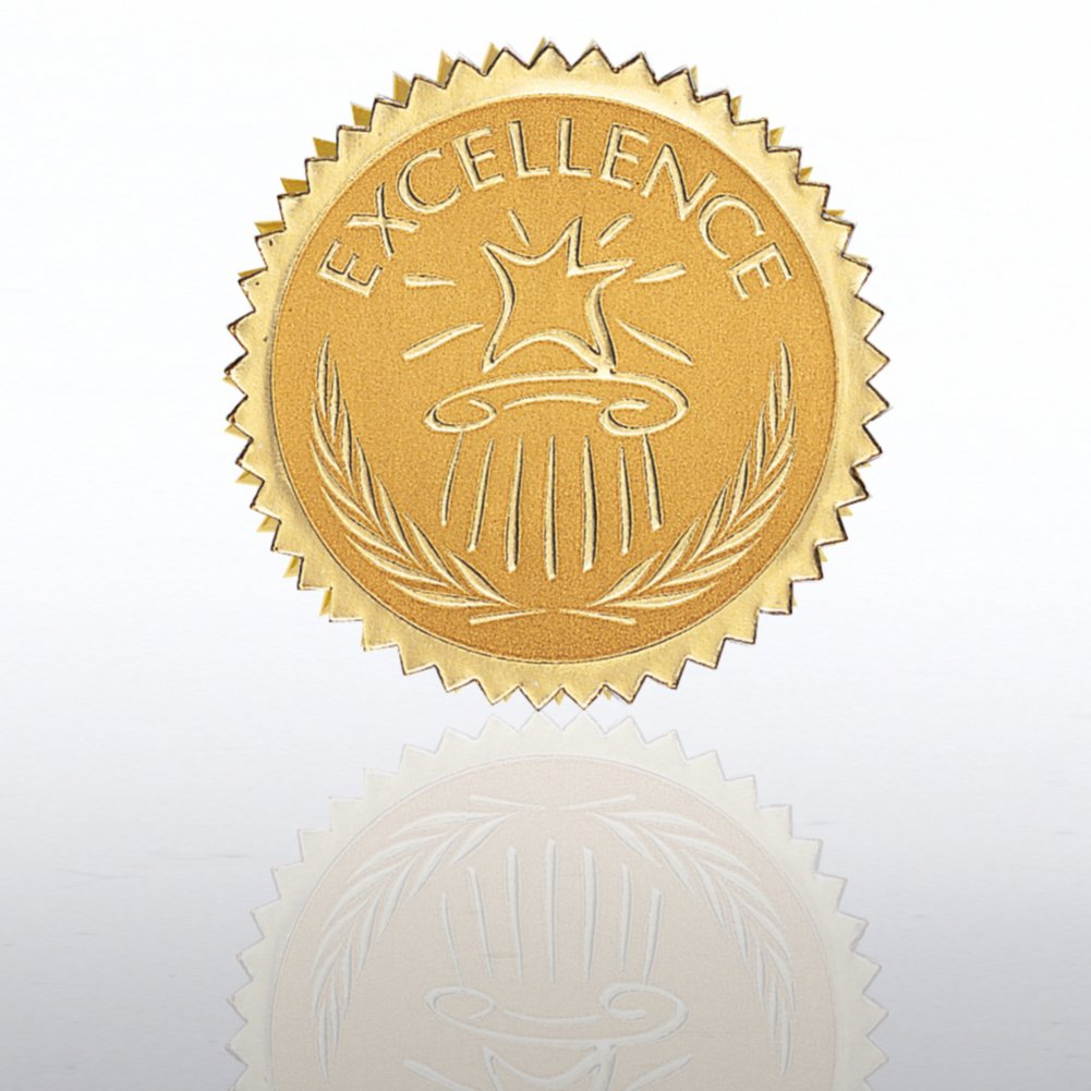 View larger image of Certificate Seal - Excellence - Star Pedestal