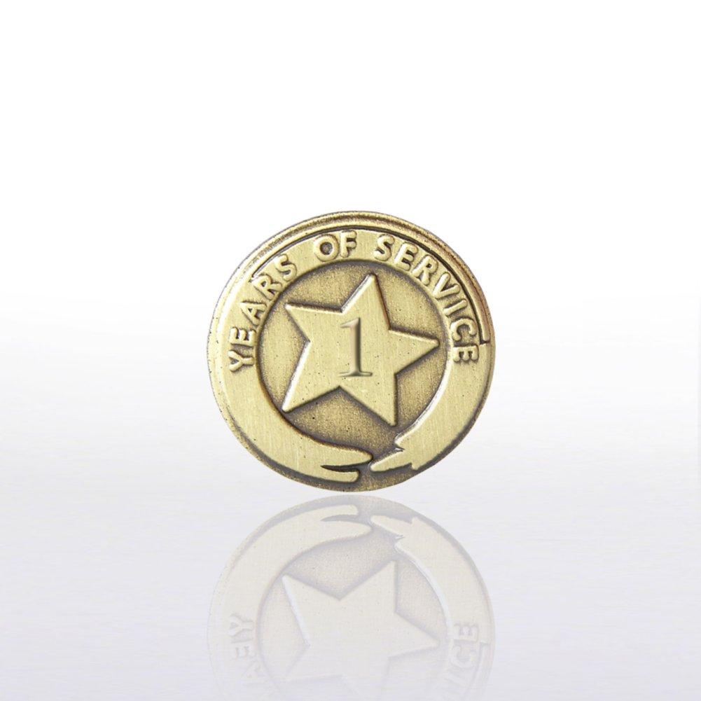 Brass Anniversary Lapel Pins