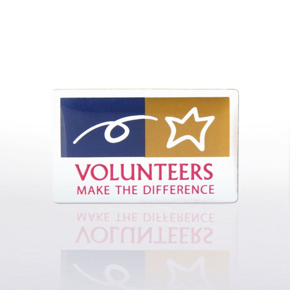 View larger image of Lapel Pin - Volunteers Make The Difference - Multi-Color