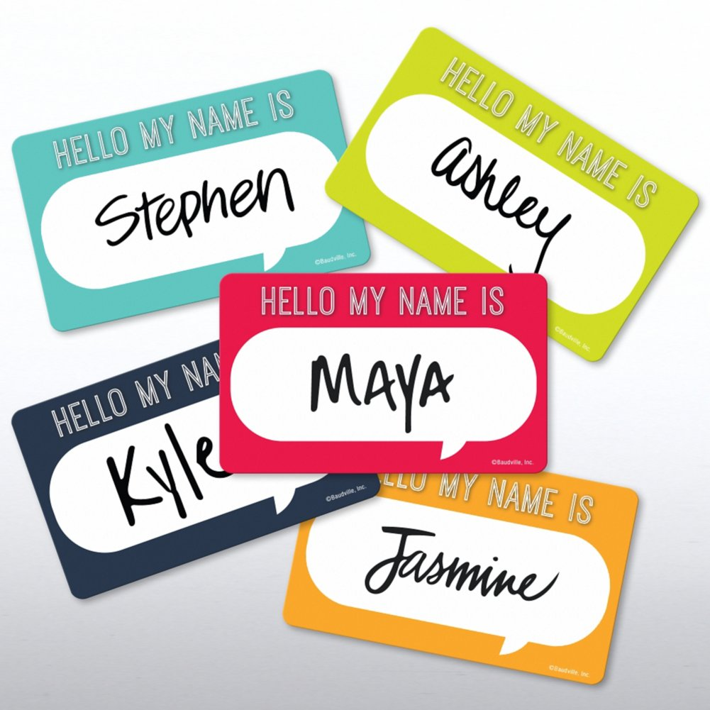 View larger image of Casual Sticker Set - On Boarding - HELLO MY NAME IS...