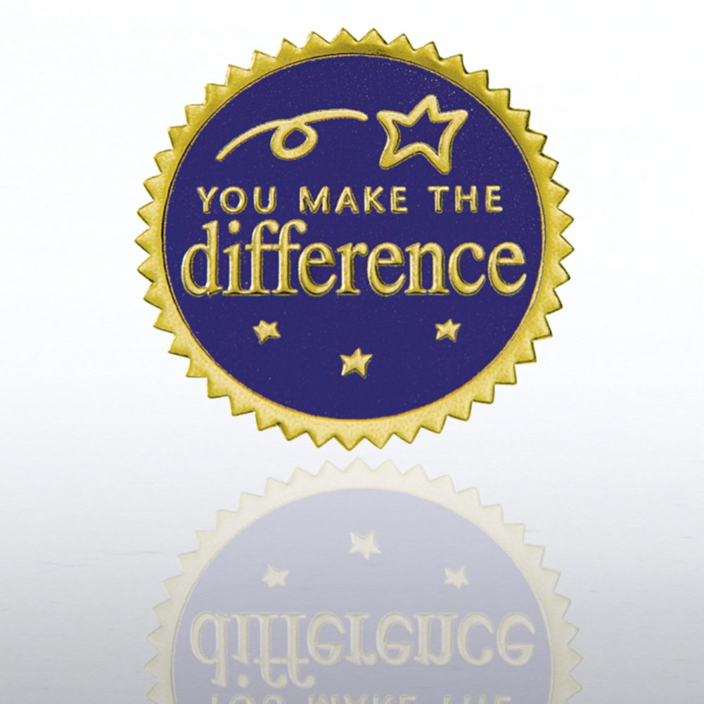 View larger image of Certificate Seal - You Make the Difference - Blue/Gold