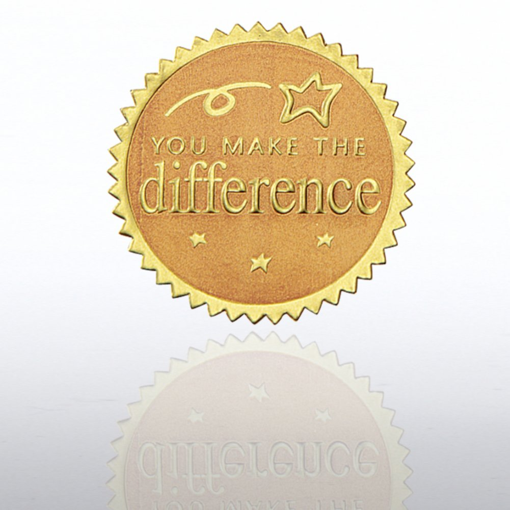 Certificate Seal - You Make the Difference - Gold