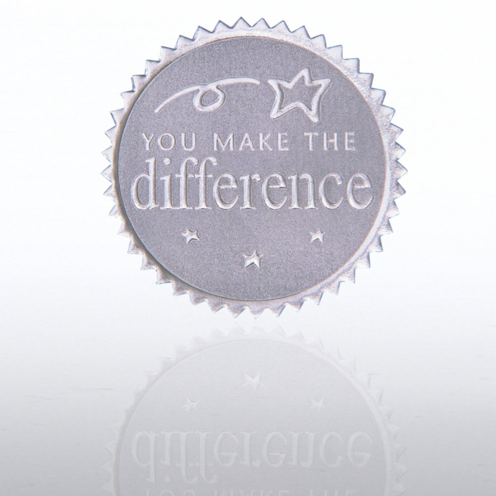 View larger image of Certificate Seal - You Make the Difference - Silver
