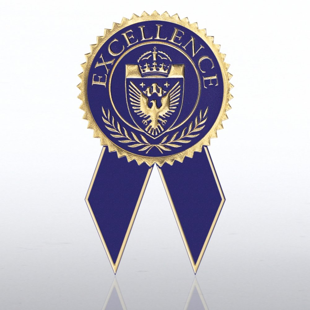 View larger image of Certificate Seal with Ribbon - Excellence - Blue/Gold