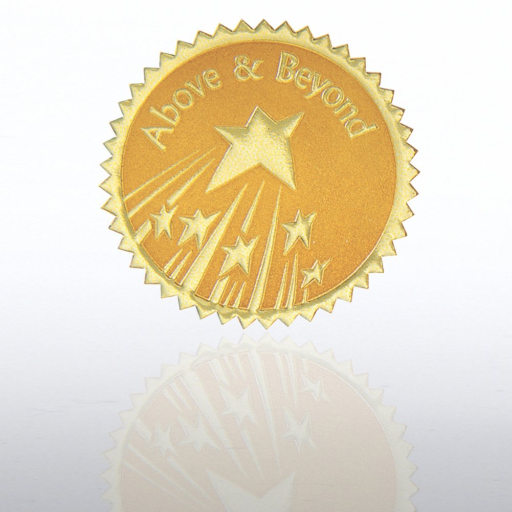 View larger image of Certificate Seal - Above & Beyond Stars - Gold