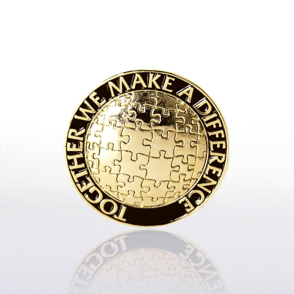 View larger image of Lapel Pin - Together We Make A Difference