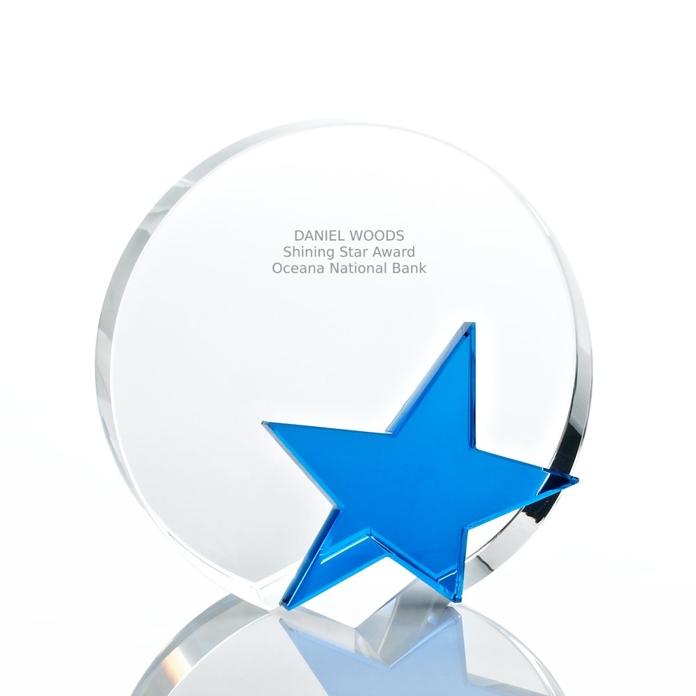 View larger image of Crystal Blue Star Trophy - Round