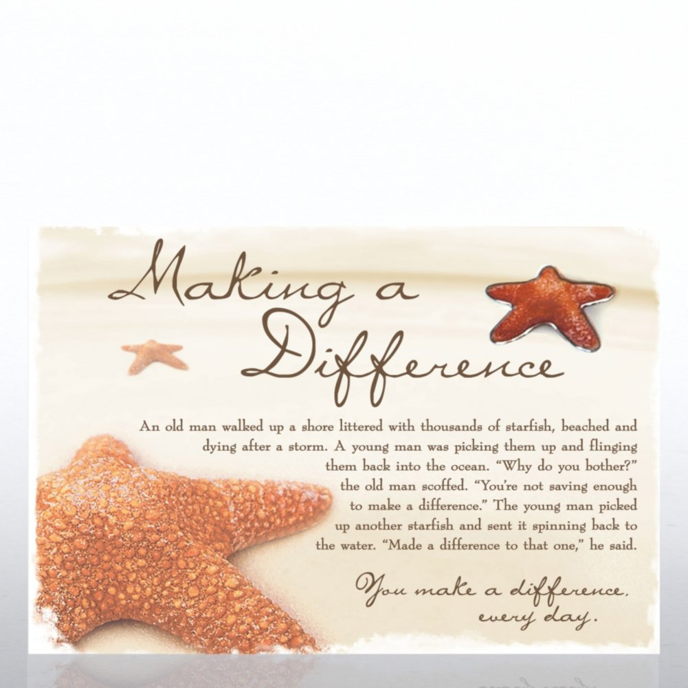 View larger image of Character Pin - Starfish: Making a Difference