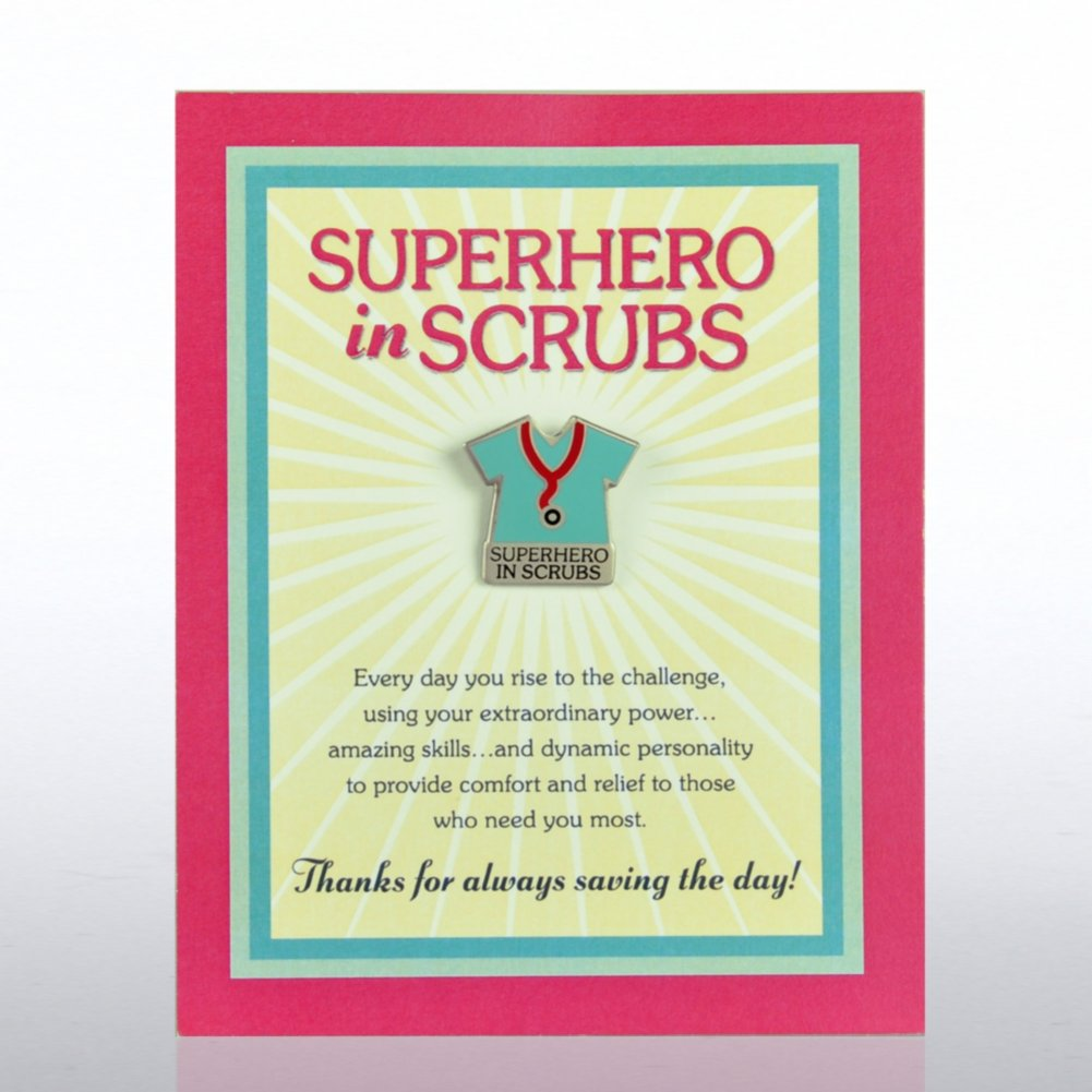 View larger image of Character Pin - Superhero in Scrubs