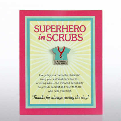 Character Pin - Superhero in Scrubs